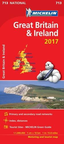 Great Britain 2017 & Ireland National Map 713 (Michelin ... on viamichelin route planner, microsoft route planner, nike route planner,