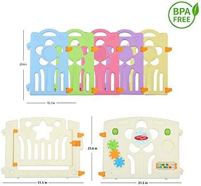 Amazon.com: Baby Playpen: 18 Flower Panel + 2 Gates ...