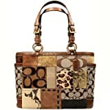 Coach Fall Patchwork Signature Gallery Tote Purse 11495