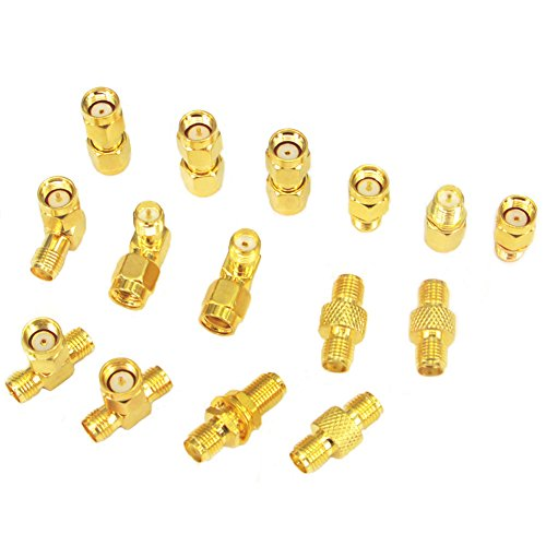 SMA Adapter Kit SMA Male Female Wifi Antenna Extension Connector Pack of 15