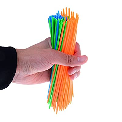 100 Pcs Plastic Pick Up Sticks with a Dice Classic Game Fun Family and Party Game Good Kids Gift : Baby