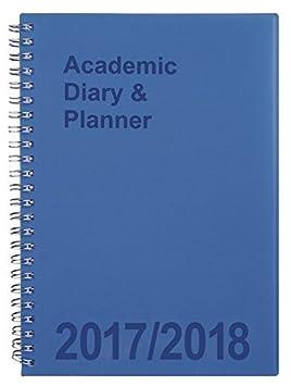 Agenda escolar Tiger SB-302116, con doble alambre, A5 semanal, color azul
