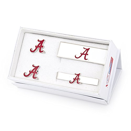 NCAA Mens University Of Alabama Crimson Tide 3-Piece Gift Set by Cufflinks