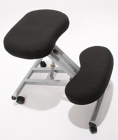Orthopädische Schreibtischstühle orthopädischer kniestuhl computerstuhl kniehocker stoff amazon de