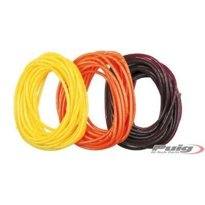 Puig 0892T Rollo Funda Espiral de Platico para Cables, Color Naranja