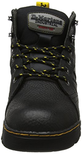Bear Martens Rubbery Black Grapple Toe Black Unisex Boot Industrial Dr Soft Steel RCqwaxn8