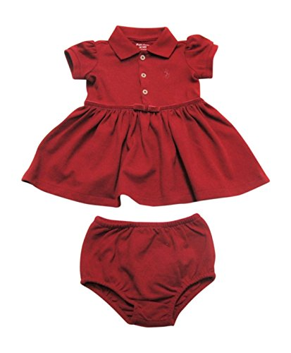 Ralph Lauren Baby Girls' Cotton Polo Dress & Bloomer (3 Months, Park Ave - Polo Shops Park