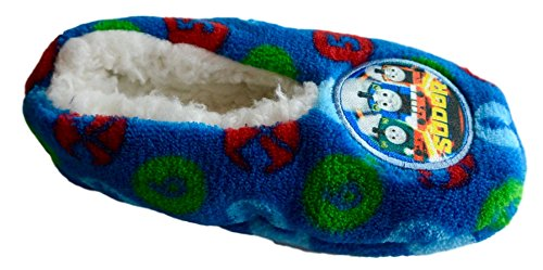Thomas & Friends Toddler Boys Fleece Slippers (Size 2-4) (Thomas The Tank Engine Slippers)