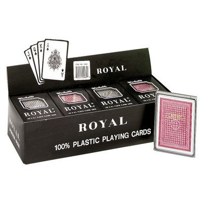 Plastic Poker Playing Cards (Pack of 12) by CHH