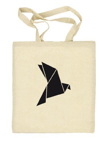 Shirtstreet24, Origami Vogel, Tier Natur Natur Stoffbeutel Jute Tasche (ONE SIZE) Natur