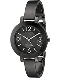 Nine West Women's NW/1631GNGN Gunmetal-Tone Stainless Steel Bangle Watch