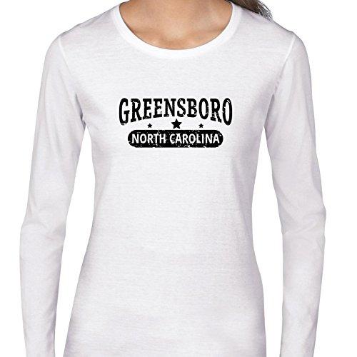 Trendy Greensboro, North Carolina With Stars Women's Long Sleeve -