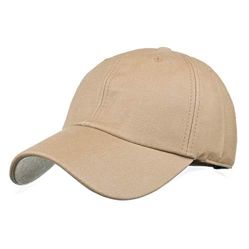 béisbol el B Gorra Color GLLH de Sol hat F Gorra versión sólido qin de Sombreros Ligera Sombrero PU para de de Tela xxCvT8