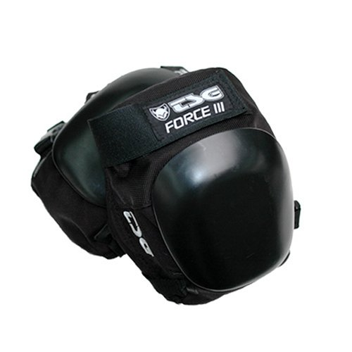 (TSG - Kneepad Force III - Pads for Skateboard (Black, L))