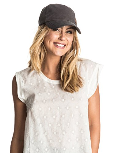 Roxy Women's Extra Innings Fitted Hat, Coal, One Size