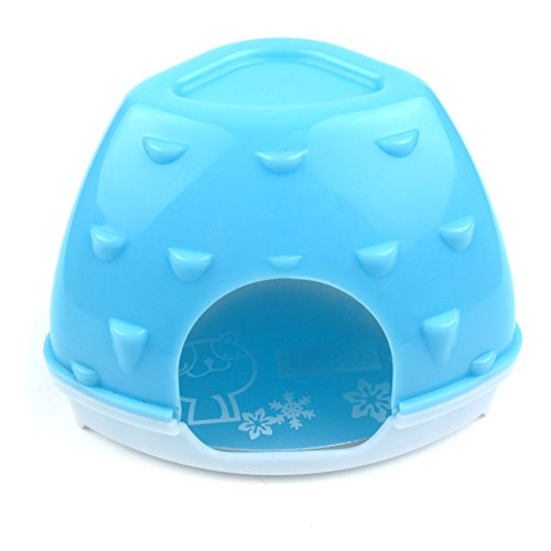[Alfie Pet by Petoga Couture - Logan Small Animal Cooling Hut Habitat for Small Animals like Dwarf Hamster and Mouse - Color: Blue] (Poodle Cooler)