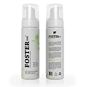 Foster(10) Eyelash Extension Cleanser, Face Wash, Make-up Brush Cleaner,Foaming, Safe for Daily use is Oil Free, Gentle and made with Pomegranate, Chamomile, GreenTea, Cucumber Extracts, Cruelty Free