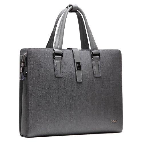 BVP Mens Real Leather Fashion Business Briefcase Attache Portfolio 13