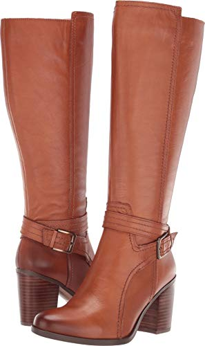 Naturalizer Women's Kelsey Wide Calf Light Maple Leather 9 W US ()