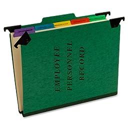 Pendaflex Hanging Personnel Folders, 1/3 Cut, Top Tab, Letter, Green (SER-2-GR)