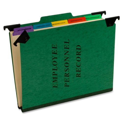 Pendaflex Hanging Personnel Folders, 1/3 Cut, Top Tab, Letter, Green (SER-2-GR)