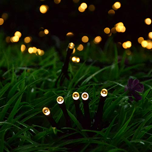 Solar String Lights Outdoor,Cshare 200 LED 8 Modes 72 FT Powered Fairy Lights Waterproof for Festival Garden Yard Pathway Christmas Tree Home Wedding Party Decorations (Warm White)