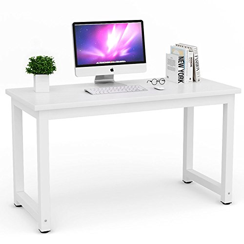 Tribesigns Modern Simple Style Computer Desk PC Laptop Study Table Workstation for Home Office White (Student Desk White)