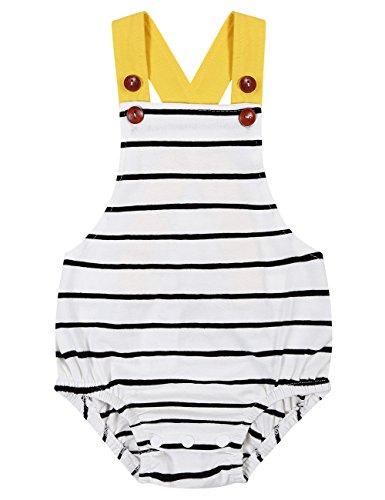 Bubble Wrap Jumpsuit Costume (Baby Girls Boys Classic Sleeveless Backless Stripe Romper Jumpsuit Bodysuit)