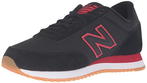New Balance Men's Mz501 Modern Classics Fashion Sneakers, Black/Crimson, 10.5 D US