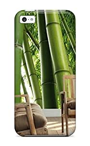 Hot Tpu Cover Case For Iphone/ 5c Case Cover Skin - Bamboo