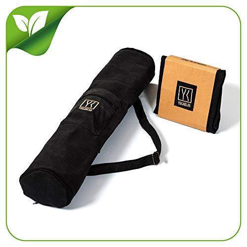 Stylische Yogatasche mit Reißverschluss und Verlängerung für große Matten und Zubehör – STARKLAR für Yoga!