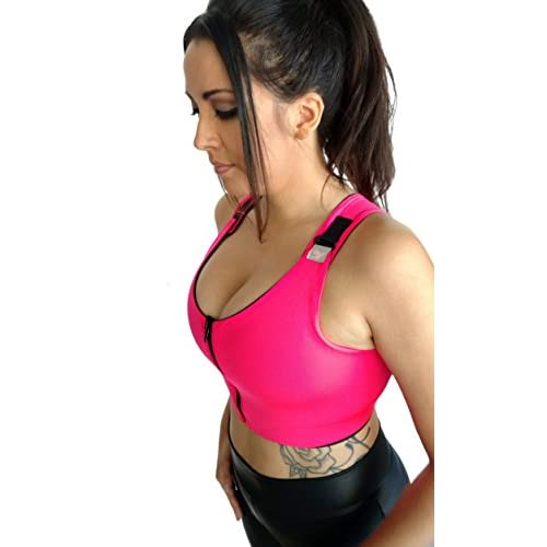 9e9073b6c6 Brilliant Contours Post Surgical Comfort Compression Sports Bra  Hot Pink  Dragonfly low-cost