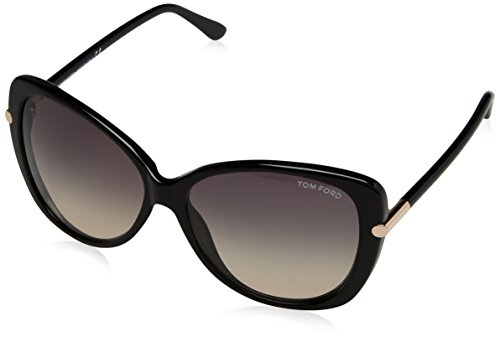 Tom Ford Butterfly Sunglasses TF324 Linda 01B Shiny Black FT0324 (Tom Ford Linda)