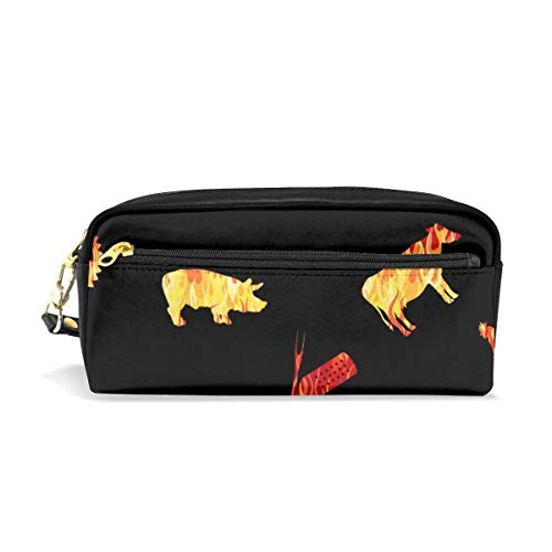 BBQ Master Cut Out Flames Black_30059 Cosmetic Bags Portable Travel Makeup Organizer Multifunction Case Bags for Women