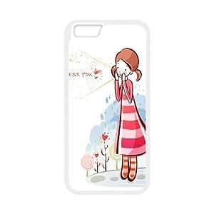 iPhone 6 Plus 5.5 Inch Cell Phone Case White CariCartoon Funny Cartoon 2 Y0I1WM