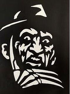 Freddy Krueger Nightmare on Elm Street Vinyl Decal Sticker|Walls Cars Trucks Vans Laptops|White|5.5 In -