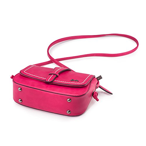 Barbie BBFB152 Bolso Escolar Bolso de Vintage de Multicolo de Estilo Cartero Mini Size Rojo