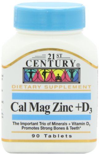 21st Century Cal Mag Zinc +D Tablets, 90 Count (Pack of 2)