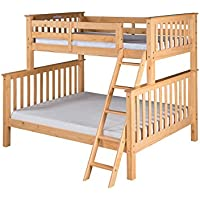 Camaflexi Santa Fe Mission Tall Bunk Bed Angle Ladder, Twin over Full, Natural