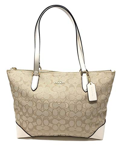 Coach Signature Zip - Coach Women's Outline Signature Zip Tote No Size (Im/Light Khaki/Chalk)
