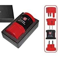 Swiss Military Universal Black & Red Travel Adaptor