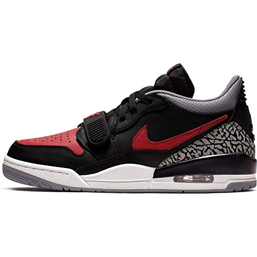 Jordan Air Legacy 312 Low, Black / Varsity Red-black-cement Grey, 10