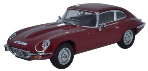Oxford Diecast 1/43 Scale Metal Model - Jagv12003 Jaguar V12 E Type Coupe - Red