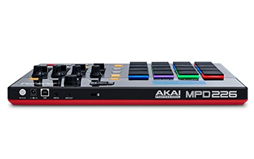 Akai Professional MPD226   MIDI Drum Pad Controller with Software Download Package (16 pads / 4 knobs / 4 buttons / 4 faders)
