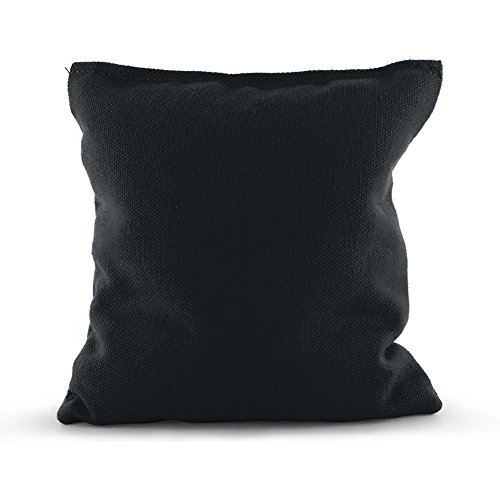 - Single Replacement Standard Corn Filled Regulation Duck Cloth Cornhole Bag 25 colors (Corn Filled, Black)
