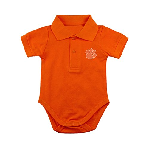 Two Feet Ahead Clemson Tigers NCAA College Newborn Infant Baby Polo Creeper (12 Months)