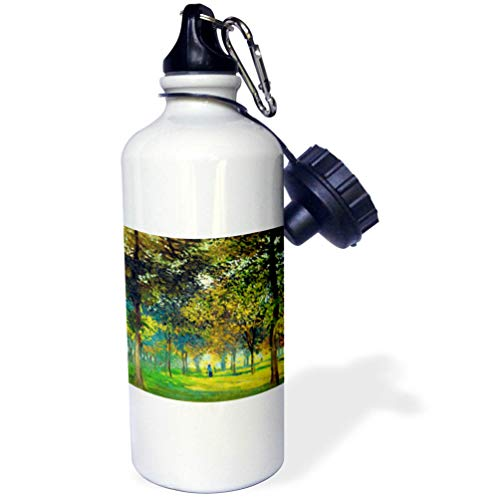 3dRose VintageChest - Masterpieces - Claude Monet - The Allee Du Champ De Foire at Argenteuil - 21 oz Sports Water Bottle (wb_303344_1)