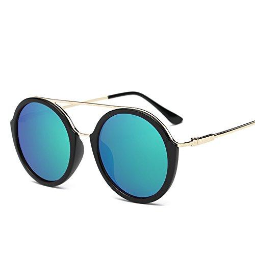 Sol Gran Reflectante De De y Gafas Mujer Gafas Gafas JUNHONGZHANG Marco Estante De Color Azul Metal para verde De Brillante Sol Gafas De negro mercurio Simples v7EqwxwF