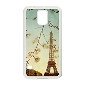 Flower Paris Unique Fashion Printing Phone Case for SamSung Galaxy S5 I9600,personalized cover case ygtg617526