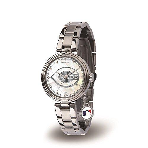 (MLB Cincinnati Reds Charm Watch, Silver)